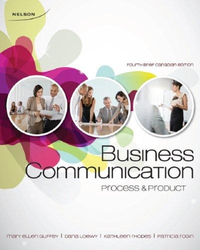 9780176503581: BUSINESS COMMUN.:BRIEF >CANADI
