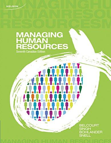 9780176506902: Managing Human Resources [Paperback]