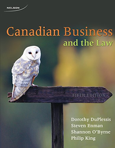 9780176509651: CANADIAN BUSINESS+THE LAW