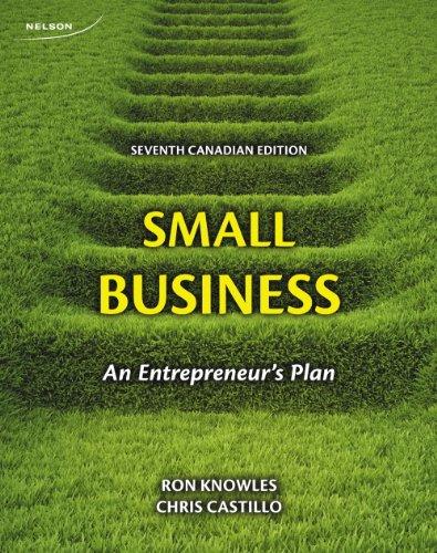 9780176509675: Small Business: An Enterpreneur's Plan