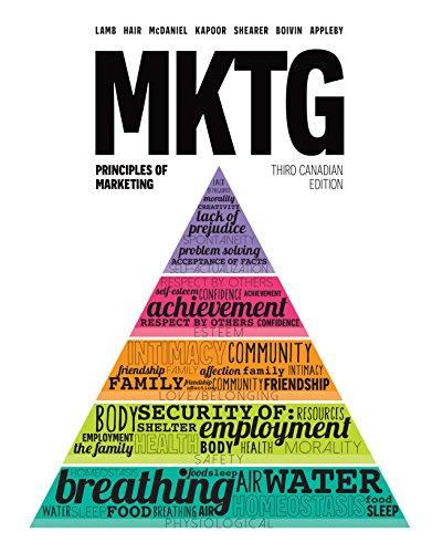 9780176530914: MKTG Principles of Marketing Third Canadian Edition