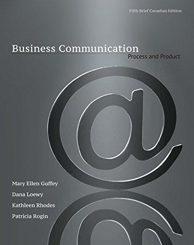 9780176531393: Business Communication: Process & Product