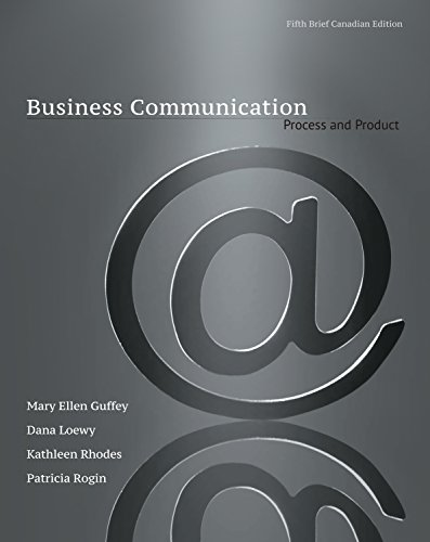9780176531393: Business Communication: Process & Product