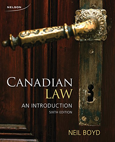 9780176531690: Canadian Law: An Introduction