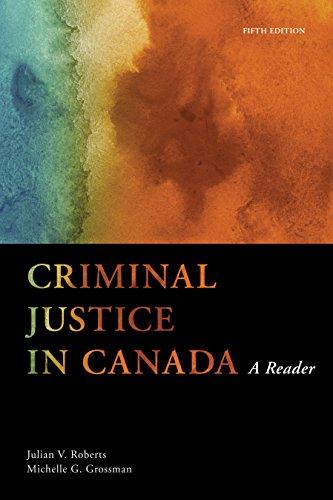 9780176557898: Criminal Justice in Canada: A Reader