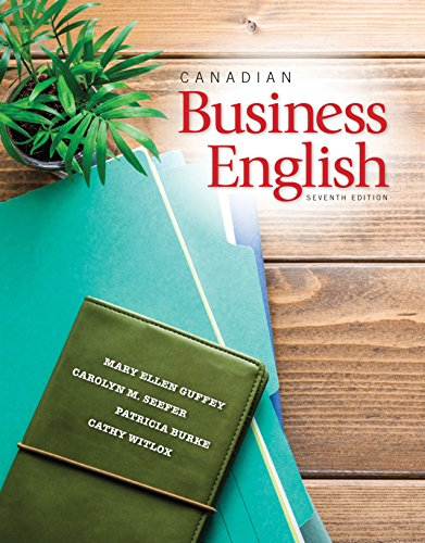 9780176582968: Canadian Business English, 7th Edition