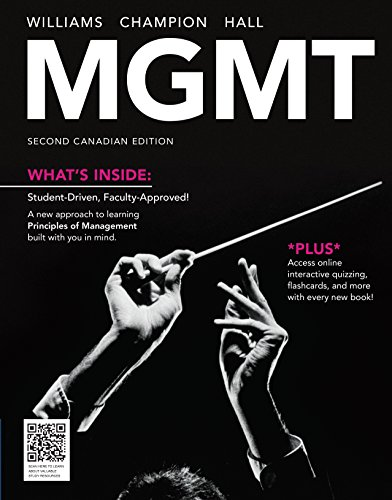 Package: MGMT, Second Canadian Edition + CourseMate: Williams, Chuck