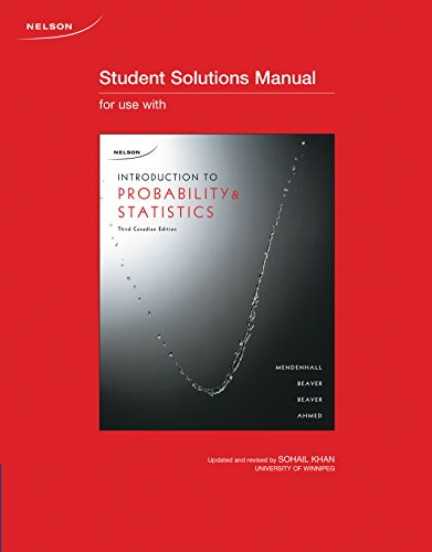 Student Solutions Manual for Introduction to Probability: Mendenhall, William, Beaver,