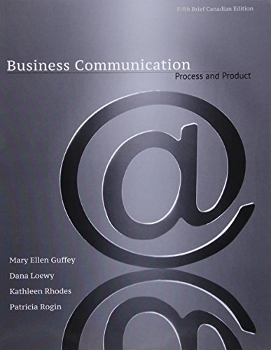 9780176713935: Business Communication: Process & Product with Style Guide
