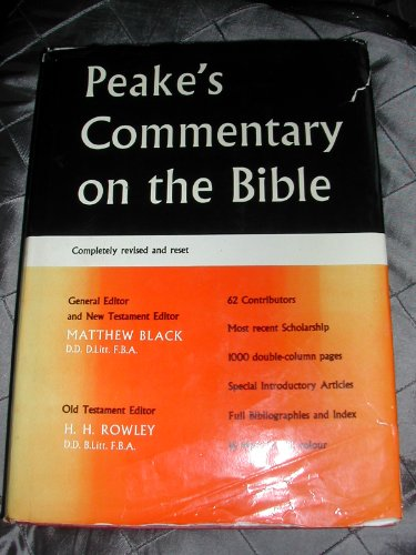 9780177110016: Peake's Commentary on the Bible