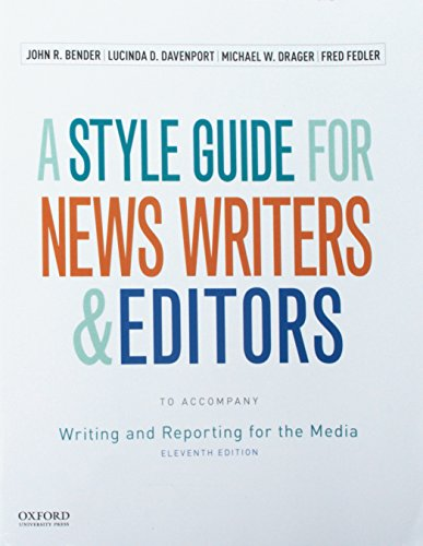 9780190200930: Writing and Reporting for the Media