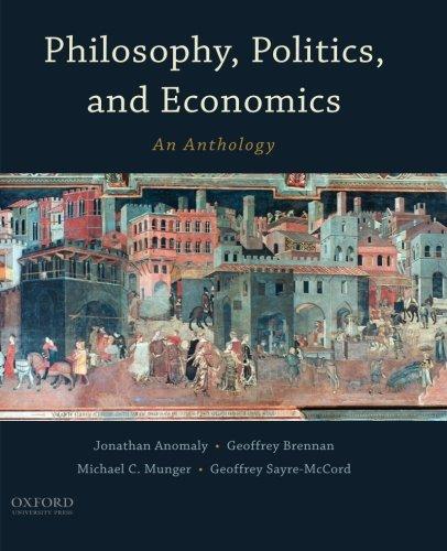 9780190207311: Philosophy, Politics, and Economics: An Anthology