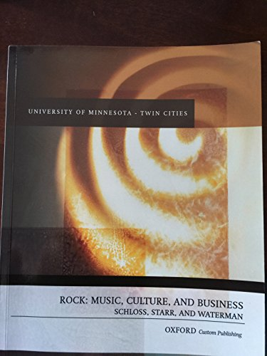 9780190224790: ROCK: MUSIC, CULTURE, AND BUSINESS (university of minnesota edition)