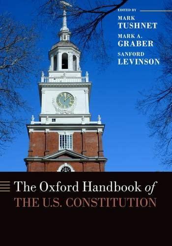 9780190245757: The Oxford Handbook of the U.S. Constitution (Oxford Handbooks)
