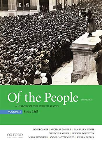 9780190254872: Of the People: A History of the United States, Volume 2: Since 1865