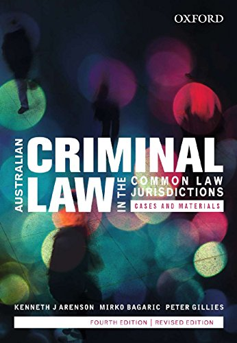 Australian Criminal Law in the Common Law: Kenneth J. Arenson
