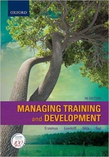 Managing Training and Development in South Africa: Erasmus, Barney; Loedolff,