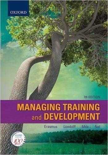 9780190409173: Managing Training and Development