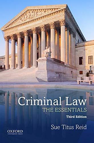 9780190455002: Criminal Law: The Essentials