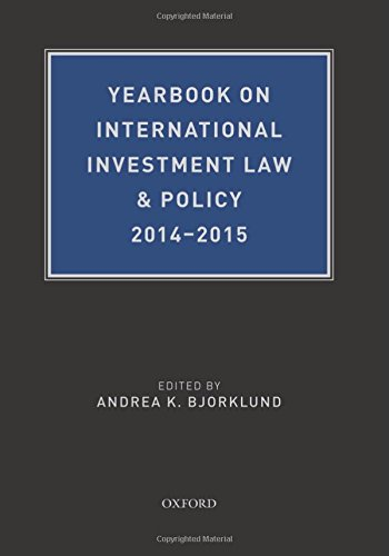 9780190612054: Yearbook on International Investment Law & Policy 2014-2015 (Yearbook on International Investment Law and Policy)