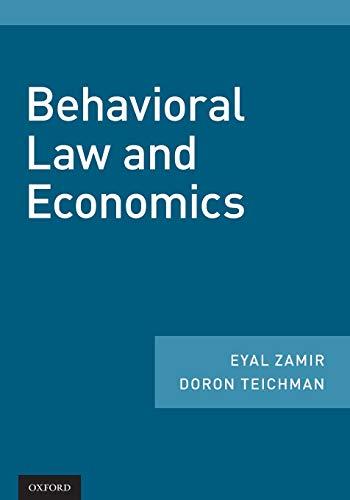 9780190901356: Behavioral Law and Economics