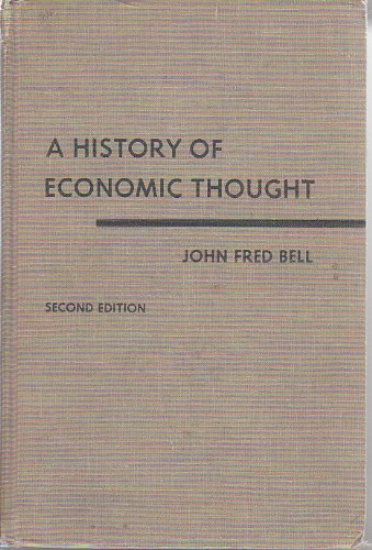 9780191010743: A History of Economic Thought