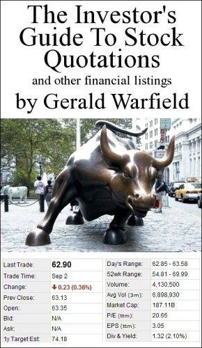 9780191011047: The Investor's Guide to Stock Quotations and Other Financial Listings