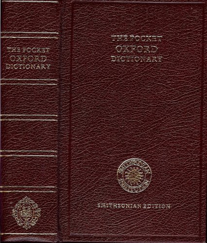 9780191958052: The Pocket Oxford Dictionary of Current English