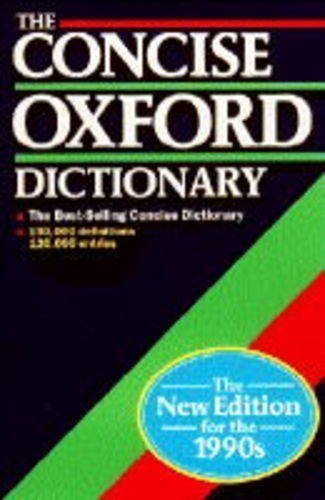 9780191958823: The Concise Oxford Dictionary of Current English