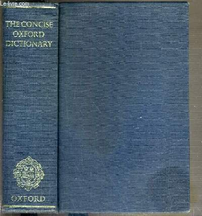 9780191961625: The Concise Oxford Dictionary of Current English