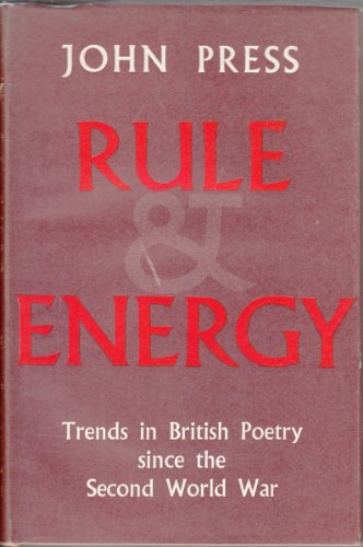 9780192116109: Rule and Energy