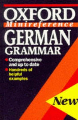 9780192116772: German Grammar (Oxford Minireference)