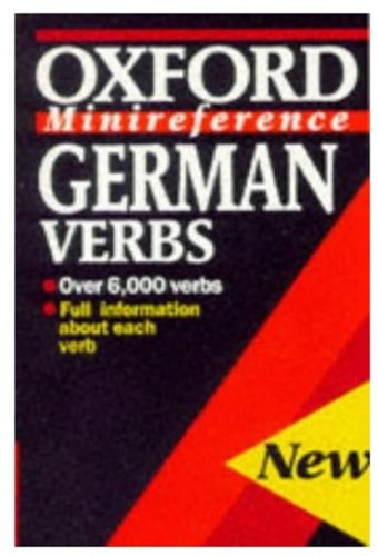 9780192116840: German Verbs (Oxford Minireference)