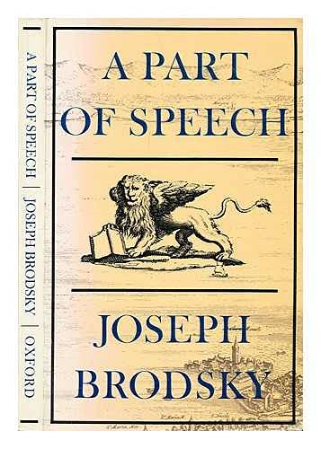 9780192119391: A Part of Speech (Oxford Poets)