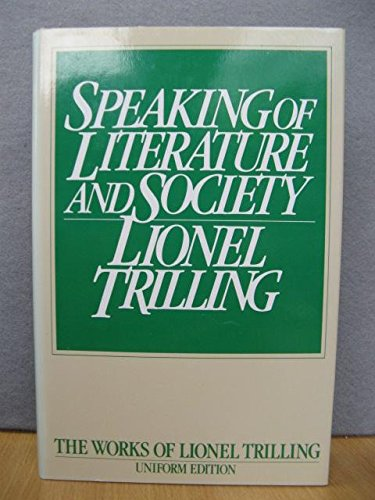 9780192122216: Speaking of Literature and Society