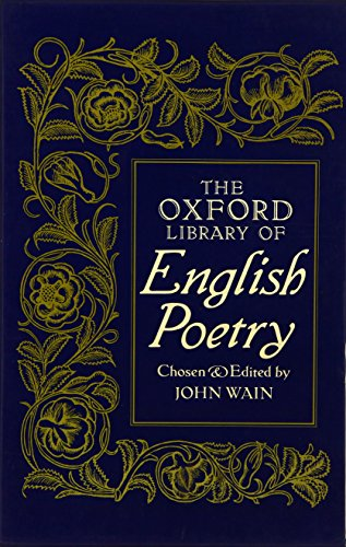 9780192122469: The Oxford Library of English Poetry