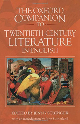 9780192122711: The Oxford Companion to Twentieth-Century Literature in English