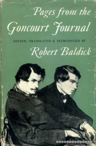 9780192125194: Pages from the Goncourt Journal