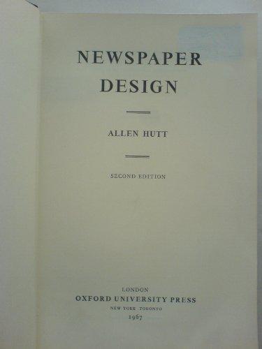 9780192129369: Newspaper Design