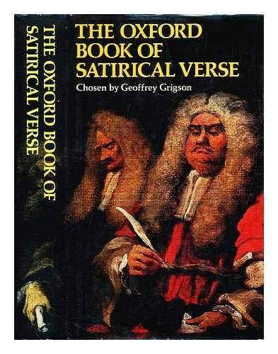 9780192141101: Oxford Book of Satirical Verse