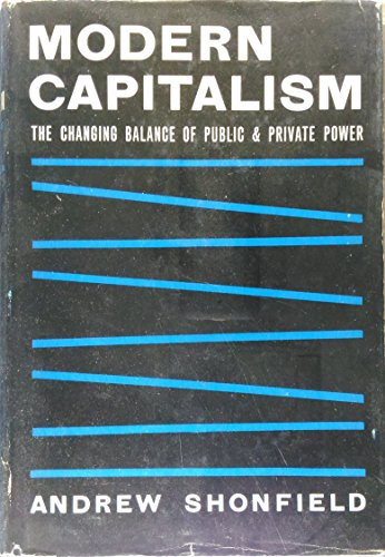 Modern Capitalism: The Changing Balance Of Public: SHONFIELD, Andrew.
