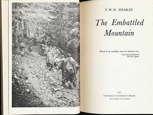 9780192151759: The Embattled Mountain
