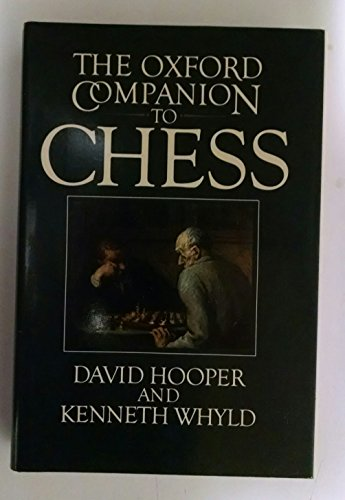 9780192175403: Oxford Companion to Chess