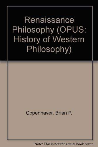 9780192192035: Renaissance Philosophy (A History of Western Philosophy)