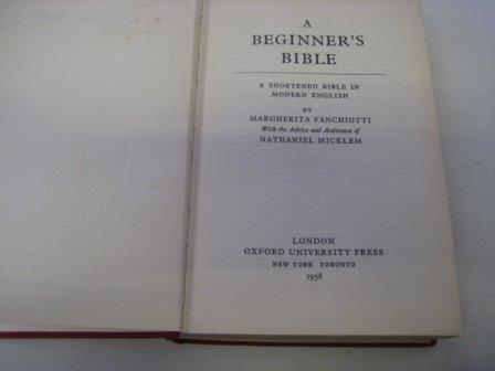 A Beginner's Bible: Fanchiotti, M