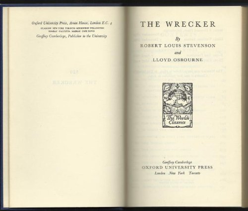 9780192505200: The Wrecker (World's Classics)