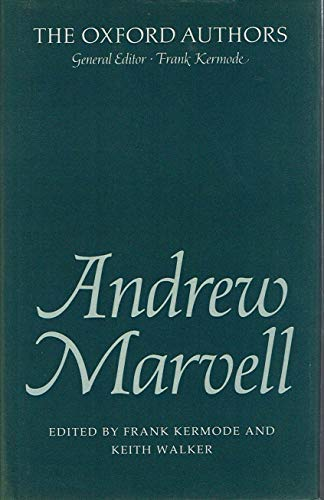 9780192541833: Andrew Marvell (The Oxford Authors)