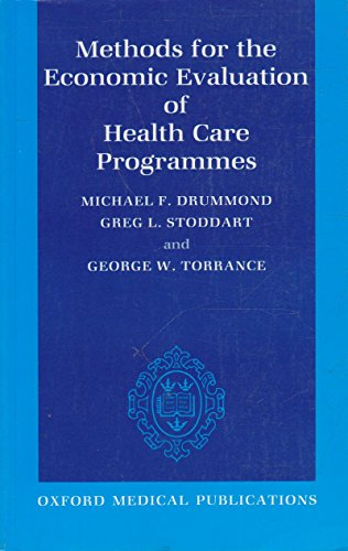 Methods for the Economic Evaluation of Health