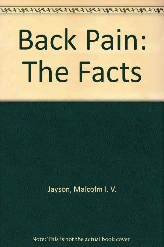 9780192616432: Back Pain: The Facts (The Facts Series)