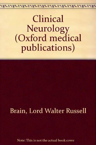 9780192619891: Brain and Bannister's Clinical Neurology (Oxford medical publications)